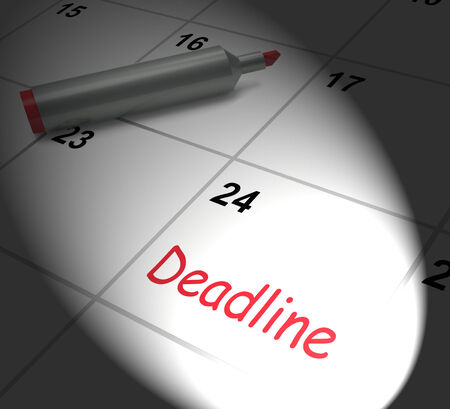 due date: Deadline Calendar Displaying Due Date And Cutoff