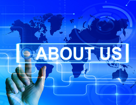 About Us Map Displaying Website Information of an International Company photo