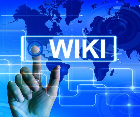 wiki: Wiki Map Displaying Internet Information and Encyclopaedia Websites
