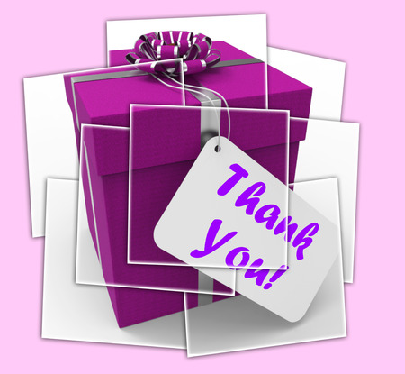 Thank You Gift Displaying Grateful And Appreciative