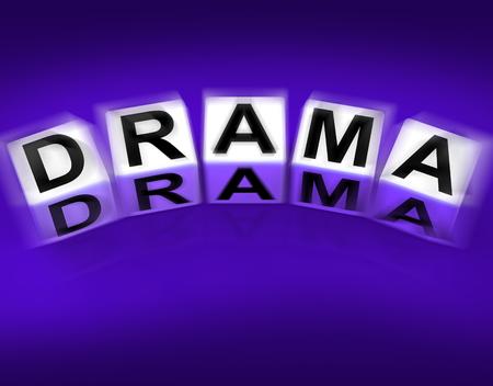 Drama Blocks Displaying Dramatic Theater or Emotional Feelings