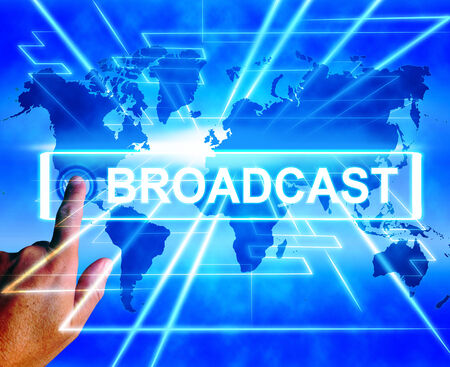 telecast: Broadcast Map Displaying Internet Broadcasting and Transmission of News