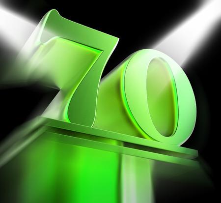 seventy: Oro Settanta Su piedistallo Visualizzazione Menzione onorevole Or Eccellenza