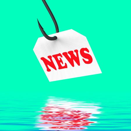 breaking news: News On Hook Displaying Journalism News Or Breaking News