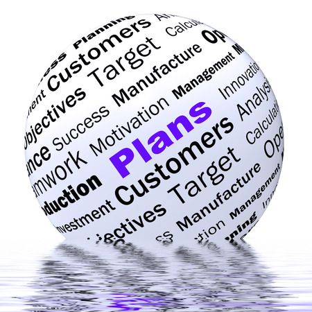 planned: Plans Sphere Definition Displaying Customers Target Arrangement Or Aim