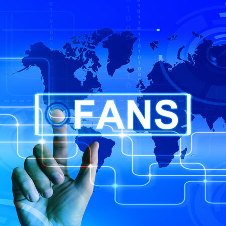 admirers: Fans Map Displaying Worldwide or Internet Followers or Admirers Stock Photo