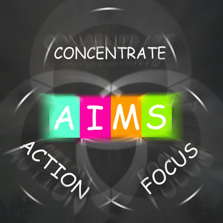 concentrate on: Strategy Words Displaying Aims Focus Concentrate and Action