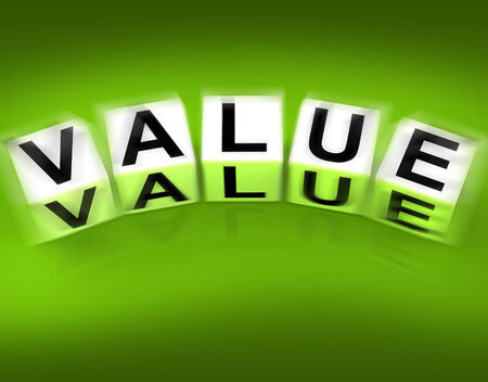 importance: Value Blocks Displaying Importance Significance and Worth
