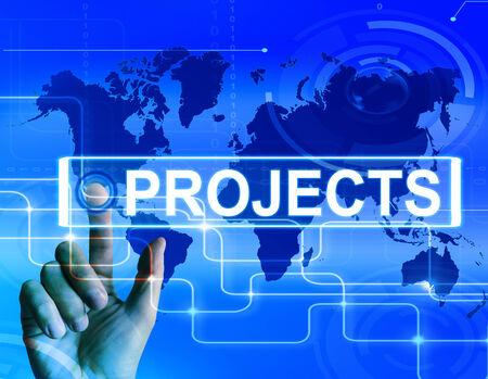 Projets de plan international ou Groupe Internet ou activité Banque d'images - 28742320
