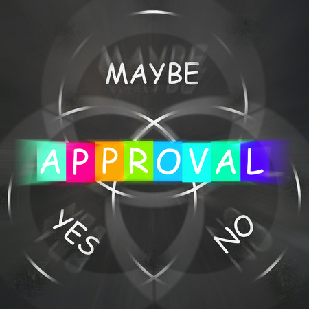 endorsed: Approval Displaying Endorsed Yes Not No or Maybe