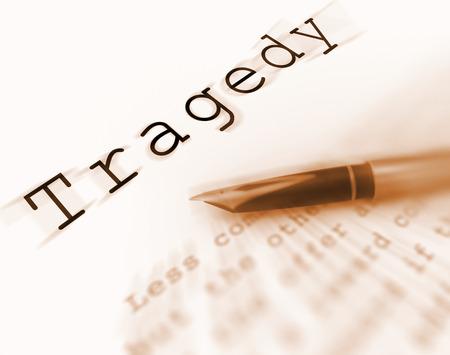 devastation: Tragedy Word Displaying Catastrophe Misfortune Or Devastation