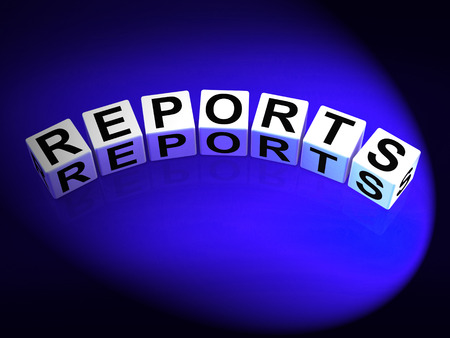articles: Reports Dice Representing Reported Information or Articles