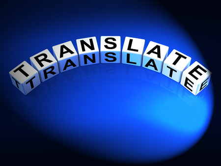 multilingual: Translate Dice Showing Multilingual or International Translator