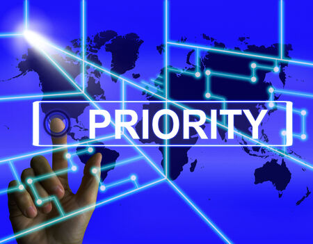 precedence: Priority Screen Showing Superiority or Preference in Importance Worldwide