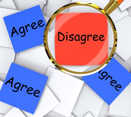 동의 함 끈적한 메모에 동의하지 않음 논문 의미 동의 또는 반대 스톡 콘텐츠