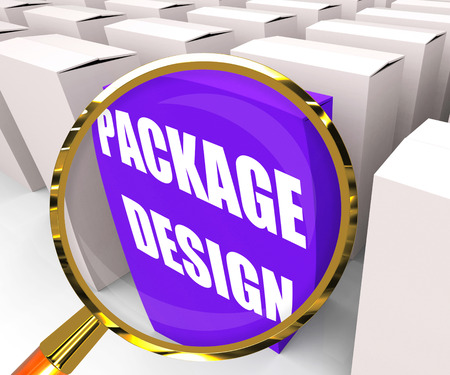 inferring: Package Design Packet Inferring Designing Packages or Containers Stock Photo
