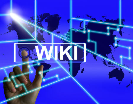 wiki: Wiki Screen Meaning Internet Information and Encyclopaedia Websites