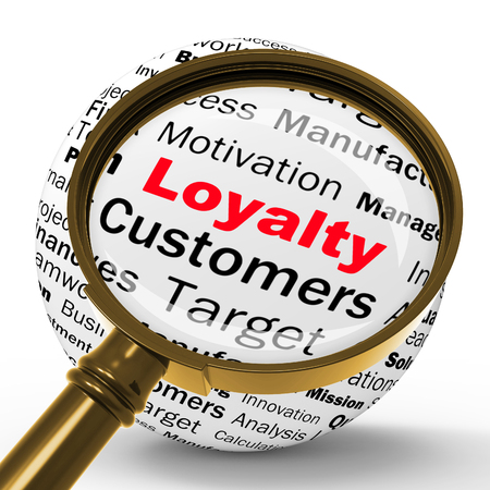 fidelity: Loyalty Magnifier Definition Showing Honest Fidelity Integrity And Reliability