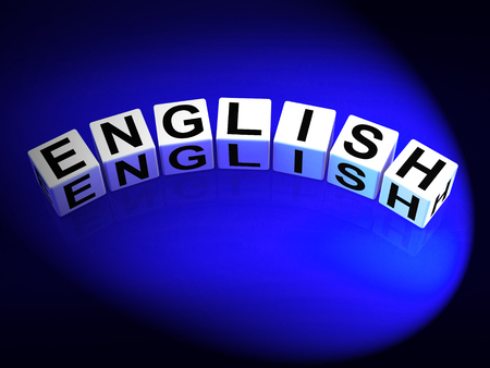 linguist: English Dice Referring to Speaking and Writing Vocabulary from England
