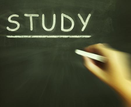 surveyed: Study Chalk Meaning Gathering And Analysing Information Stock Photo