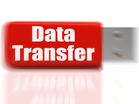 data archiving: Data Transfer USB drive Showing Data Storage Archiving Or Files Transfer Stock Photo