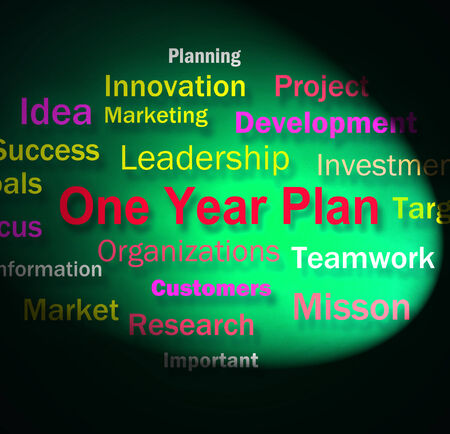 next year: One Year Plan Words Meaning Goals For Next Year