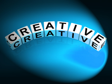 imaginative: Creative Dice Meaning Innovative Inventive and Imaginative