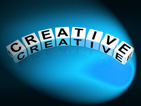 inventive: Creative Dice Meaning Innovative Inventive and Imaginative