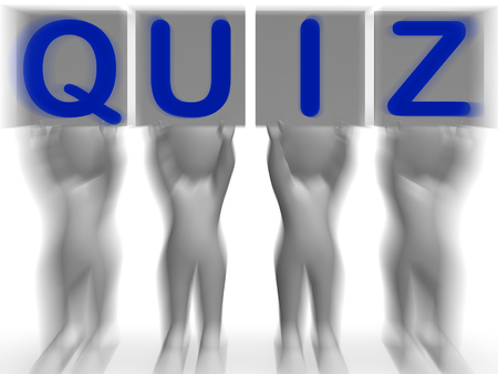 Quiz Placards Meaning Quiz Games Questions Or Exams photo
