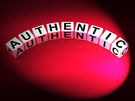 authenticity: Authentic Dice Showing Certified and Verified Authenticity