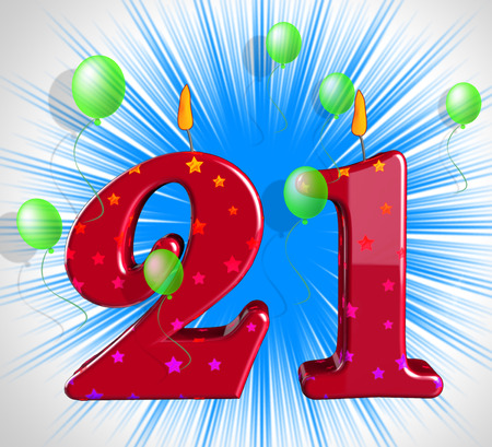 twenty one: Number Twenty One Party Meaning Adult Celebration Or Party