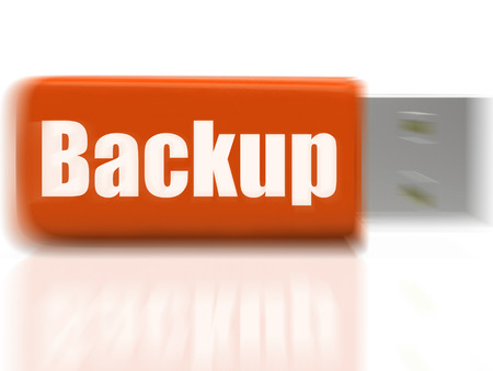 archiving: Backup USB drive Showing Data Storage Archiving Or File Transfer