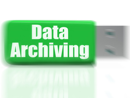 archiving: Data Archiving USB drive Showing Files Organization Storing And Transfer