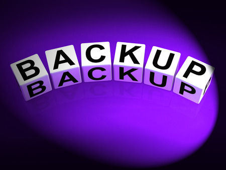 data archiving: Backup Dice Meaning Store Restore or Transfer Documents or Files