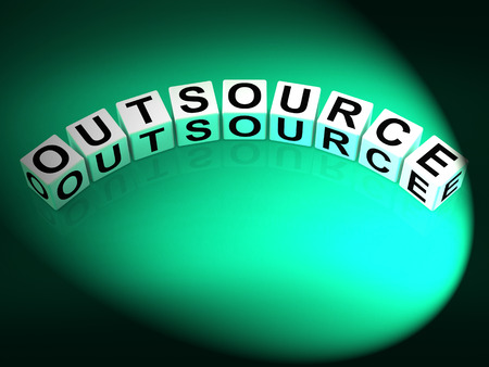 freelancing: Outsource Dice Showing Outsourcing and Contracting Employment