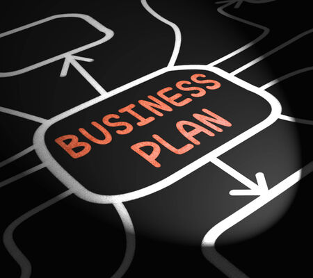 Business Plan Arrows Meaning Goals And Strategies For Company photo