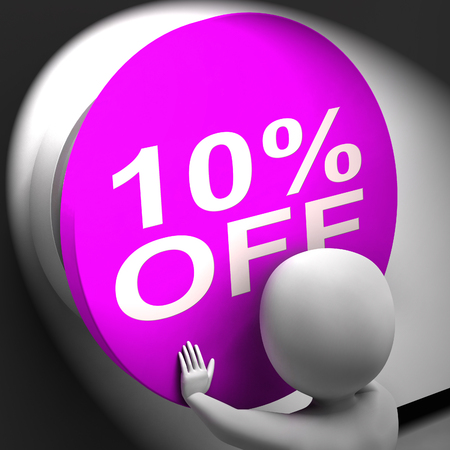 Ten Percent Off Pressed Showing 10 Markdown Sale photo