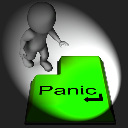 panicky: Panic Keyboard Meaning Alarm Distress And Dread Stock Photo