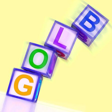 wordpress: Blog Word Showing Blogger Internet And Niche