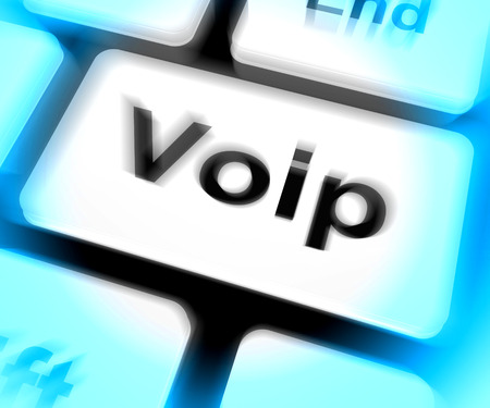 telephony: Voip Keyboard Meaning Voice Over Internet Protocol Or Broadband Telephony