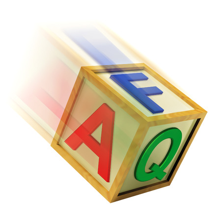 FAQ Wooden Block Meaning Questions Inquiries And Answers Stock Photo
