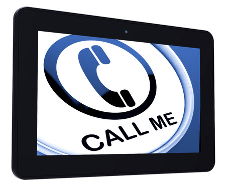 call me: Call Me Tablet Showing Talk or Chat