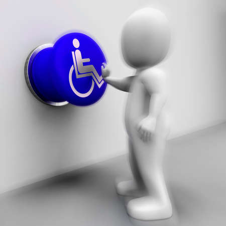 immobility: Wheel Chair Pressed Showing Physical Disability And Immobility