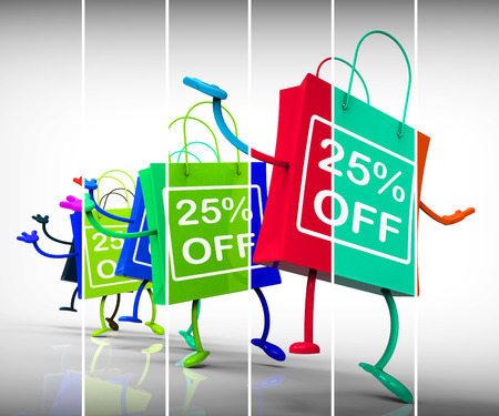 Twenty-five Percent Off Shopping Bags Show 25 Discounts photo