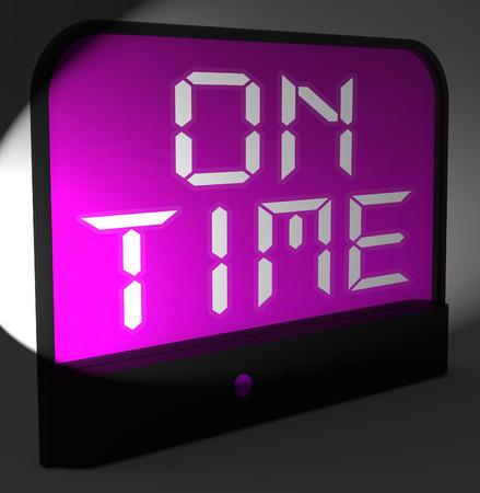 llegar tarde: El Tiempo Digital Clock Significado Puntual Y No Late