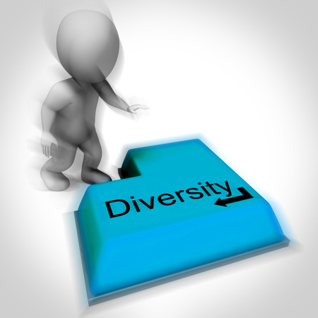 variance: Diversity Keyboard Meaning Multi-Cultural Range Or Variance Stock Photo