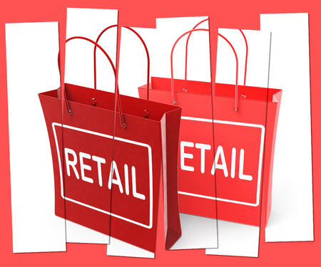 merchandiser: Retail Shopping Bags Showing Commercial Sales and Commerce