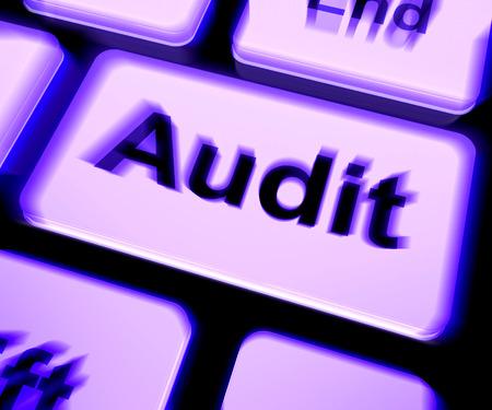validation: Audit Keyboard Showing Auditor Validation Or Inspection Stock Photo
