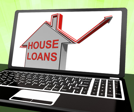 borrowing: House Loans Home Laptop Meaning Borrowing And Mortgage