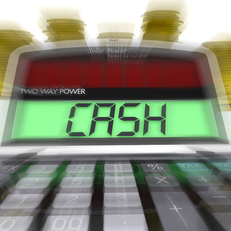 calculated: Cash Calculated Meaning Finances Savings Or Loan